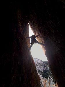 Espectacular tirada de la cova (Foto: Josep)