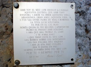 Placa en record d'Ignasi Cisa