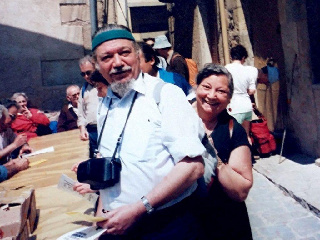 Jaume Ramon i Montserrat Vidal a la Marxa de Veterans (anys 80)