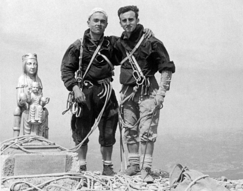 Joan Cerdà i Josep M. Anglada al Cavall Bernat (anys 60)
