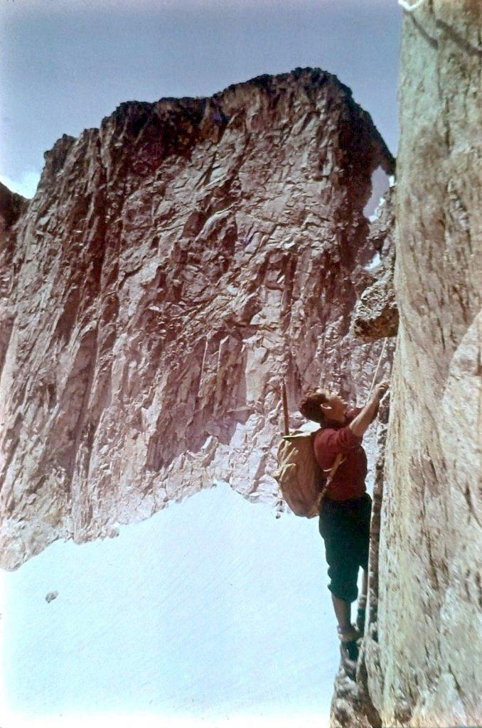 Joaquim Tintoré a la Cresta de Salenques (Foto: Delfí Feiner)