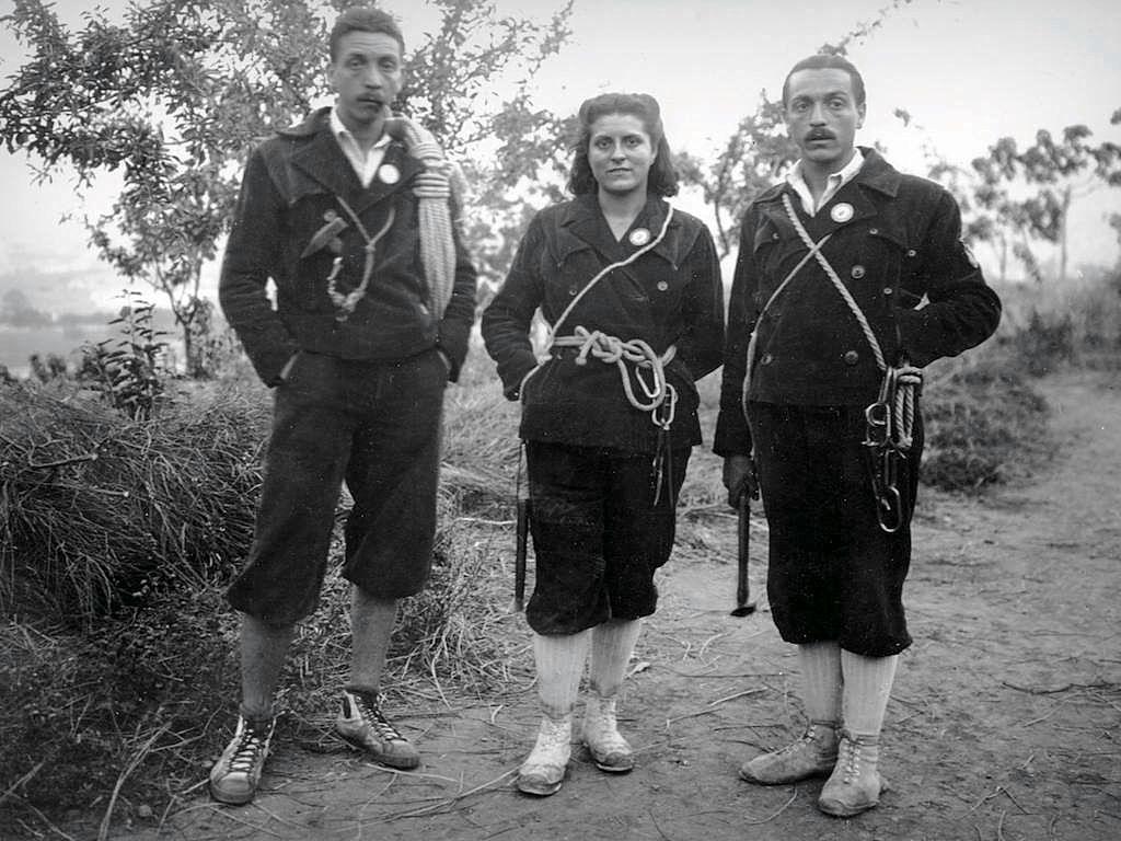 Els germans Josep, Maria i Francesc Estorach