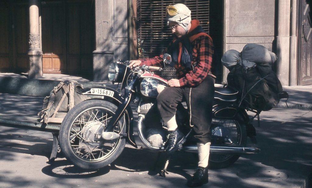 NSU Supermax 250cc, ideal per anar als Dolomites (1958)
