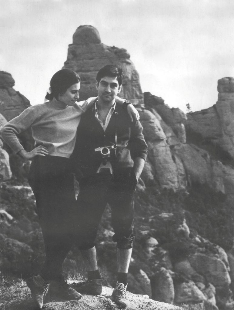 Maria Rosa Cama i Josep M. Rodés a Sant Pau Vell (1967)