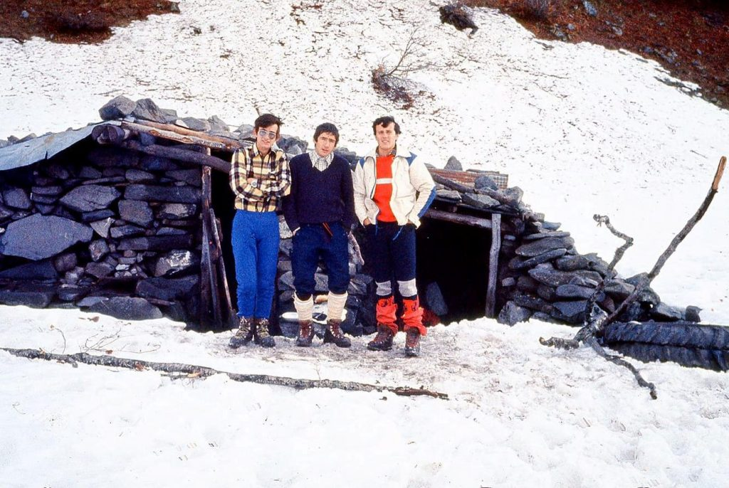 1977 (Ansabère). Oscar Cimadevilla, Manel Solís i Enric Sabaté