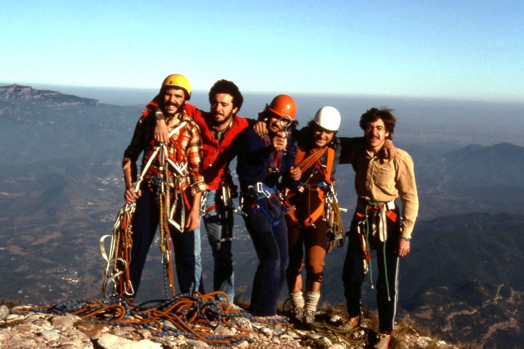 1978 (Prenyada) - Juan Pérez, Antonio Pérez, Manel Solís, Joan Porta i Pere Xavier Porta (Foto: Chapi)