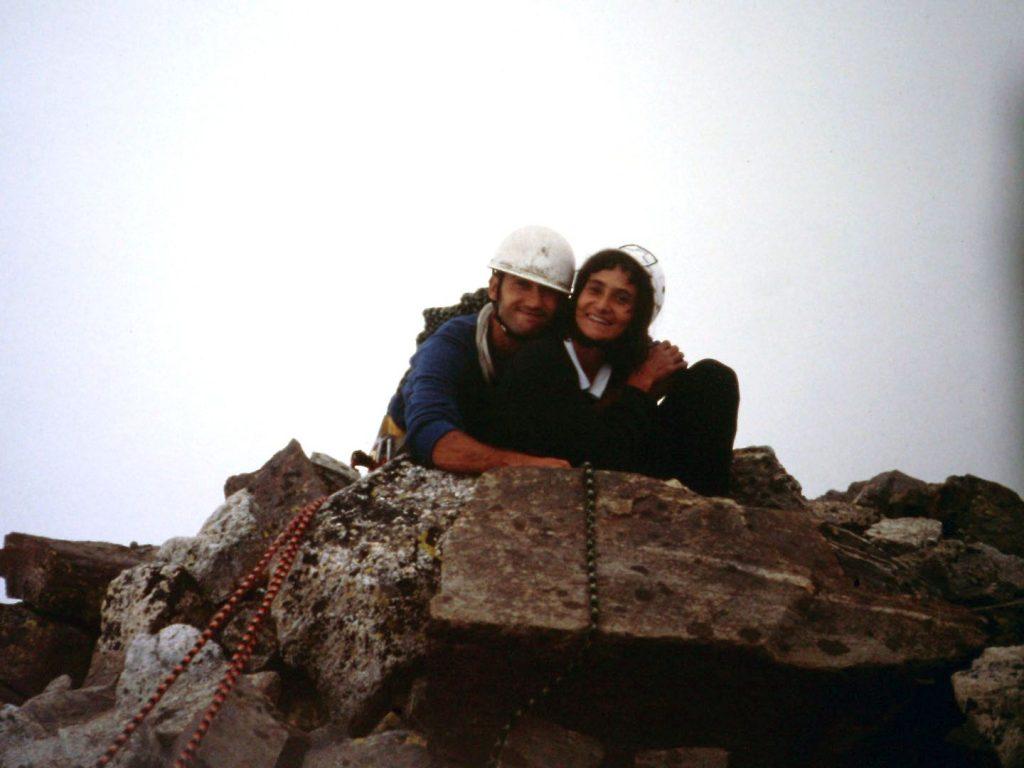 1990 (Pirineus). Cim del Quayrat amb Tere Alsinet