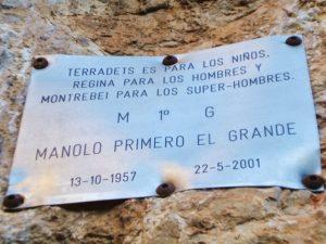 Placa Manolo 1º el Grande