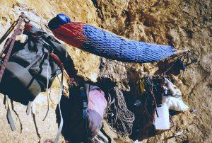 1994. Bivac obrint en solitari la via Manolo 1º el Grande (Foto: Manolo López)
